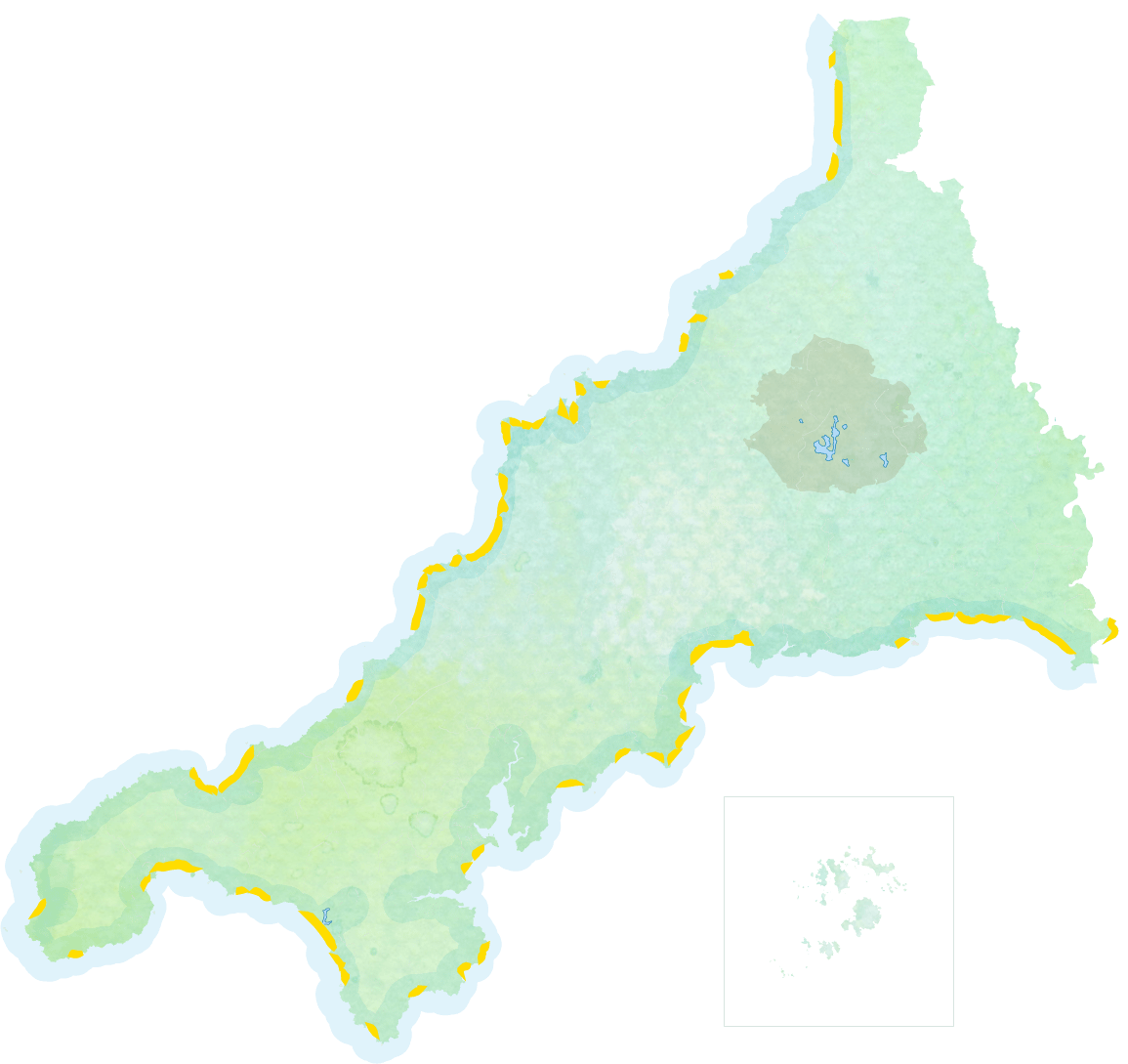 Maps Places In Cornwall