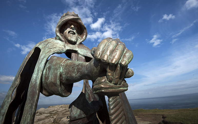 King Arthur at Tintagel, Cornwall