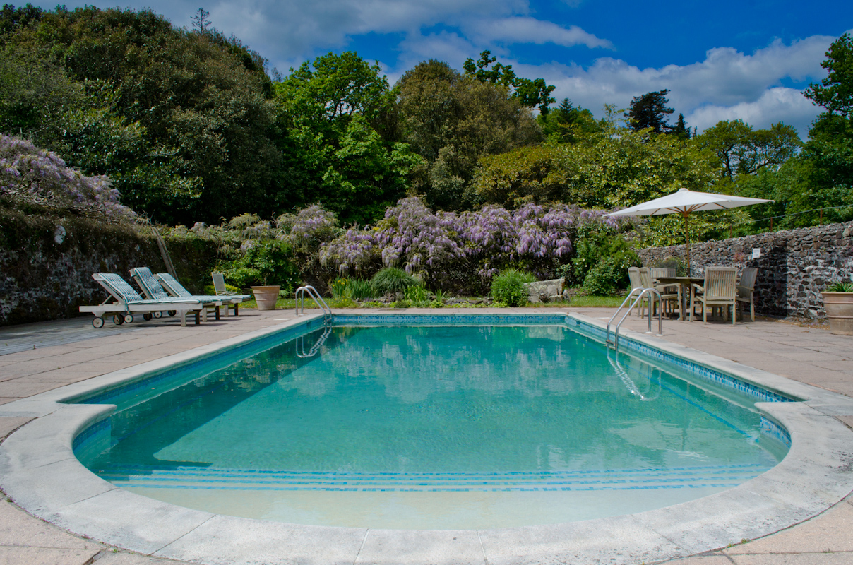 Pentillie castle estate for Cornwall hotels with swimming pools