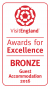 Visit England Award for Excellence 2016 Bronze Guest Accommodation