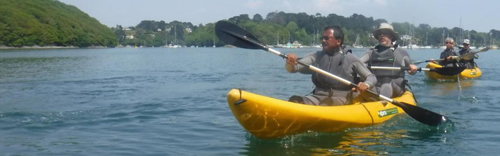 Kayaking on the Helford