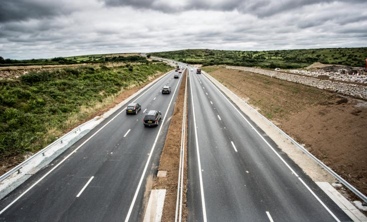 A30 between Temple and Higher Carblake