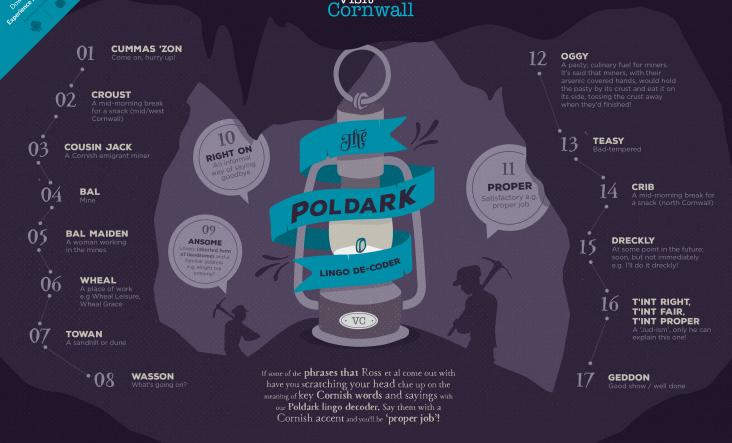 Poldark, words and phrases, Cornwall, 2017