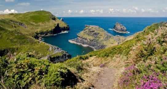 Boscastle Harbour in North Cornwall