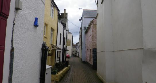 A view of the town in Looe, South East Cornwall