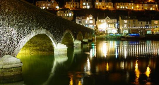 Looe at night, South East Cornwall