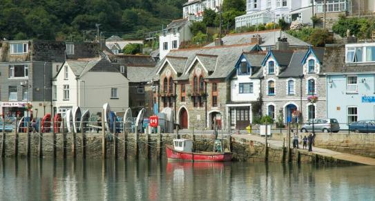Looe waterfront, South East Cornwall