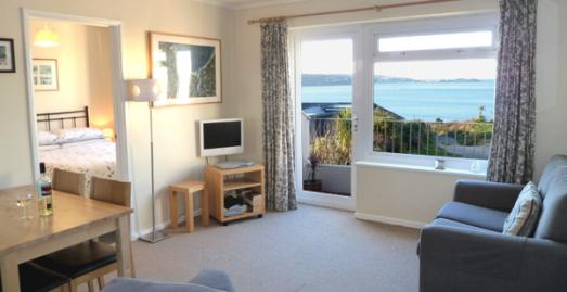 Chyreene Court Apartments, Hayle. Lounge.