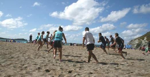Lusty Glaze Beach , Annual Tag Rugby Tournament, What's On, North Cornwall