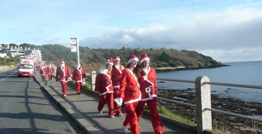 Santa Fun  Run, Falmouth, Cornwall