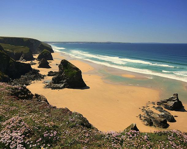 Bedruthan Steps by Ingrid King