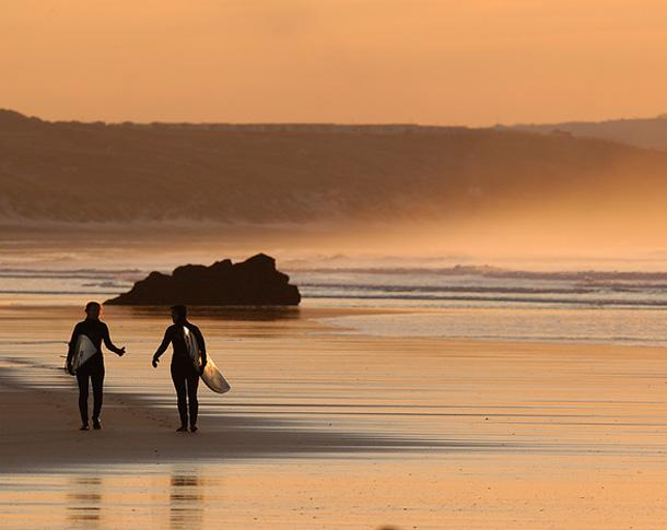 Surfers at Sunset image [c] Bob Berry