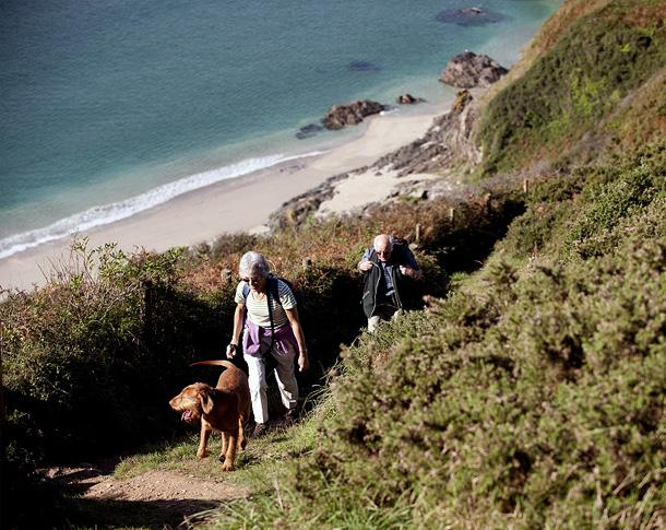 Walkers coast path Pencarrow Head [c] NTPL/John Millar