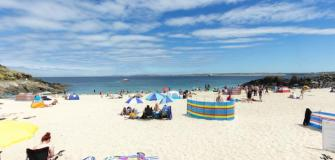 Beaches in St Ives, Cornwall, holiday, coast, travel