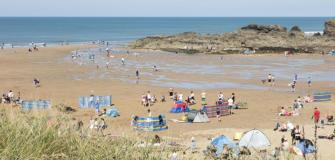 Beaches in Bude, Cornwall, holiday destination, travel, coast