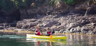 Photo of two canoeists