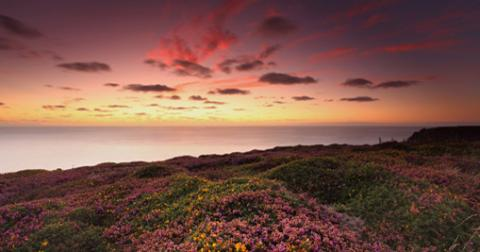 Sunset over the north coast, Cornwall c Grant Lampard