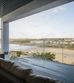 The view from Weaver's View, a self-catering holiday home in Polzeath, North Cornwall