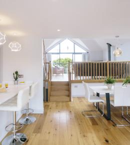 Dining area at Appleby, a self-catering holiday home in Daymer Bay, North Cornwall