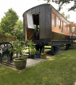 The Old Luggage Van, a holiday carriage for train lovers