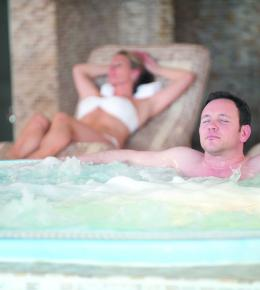 Couple relaxing in Carlyon Bay Hotel Spa