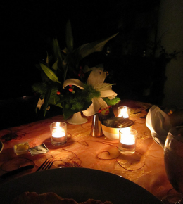 Candlelit dinner for Two at The Pot and Barrel B&B in Bude