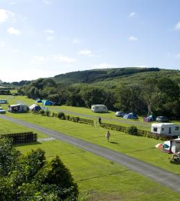 Camping pitches in the Cornish Countryside