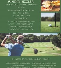 Golf with accommodation - Special offer