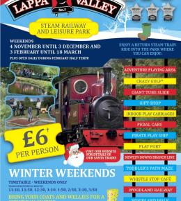 Winter Weekends at Lappa Valley just £6 per person!