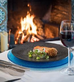 Fine dining at Talland Bay Hotel autumn and winter