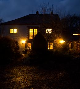 Night time at Trenannick Cottages