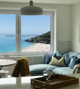 Sea view apartment st ives