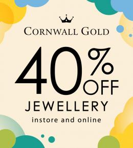40% off Jewellery at Cornwall Gold