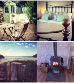 Daymer Studio sleeps 2 at Merlin Farm