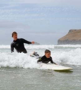 Polzeath Surfing