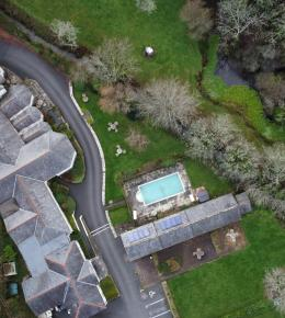 Rose in Vale Country House Hotel aerial view