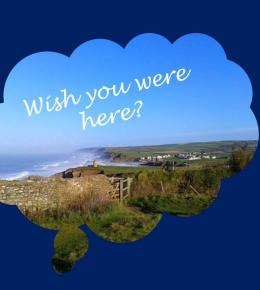 From above the Pepper Pot in Bude, views of the coast, beaches and surrounding countryside
