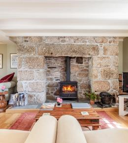 enjoy the woodburner in Ring and Thimble