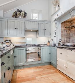 a superbly equipped kitchen