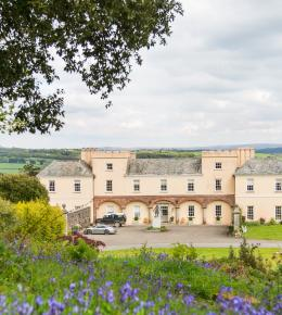 View of the front of Pentillie Castle by Charlotte Dart Photography