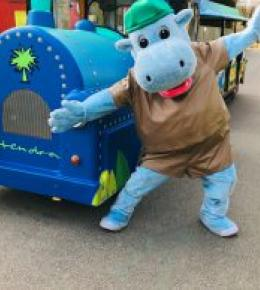 Henry the Hippo is excited for half-term