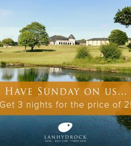 Lanhydrock Hotel offer promoting 3 nights for the price of 2