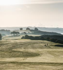 Misty golf course at Carlyon Bay Hotel