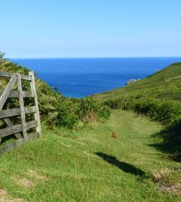 Path to Porthmeor Cove on South West Coast Path