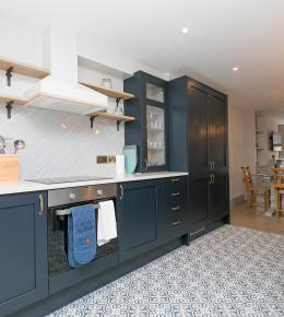 Modern kitchen fitted in the newly renovated holiday cottage at Polmanter Touring Park in St Ives