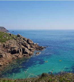 Porthgwarra Cove in spring
