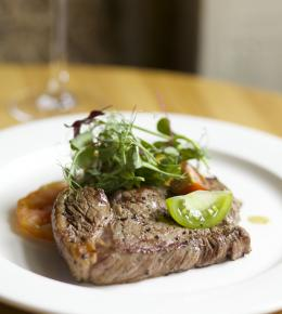 Steak night at The Plume of Feathers, Mitchell