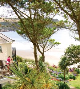 Beautiful gardens and stunning sea views from The Nare Hotel