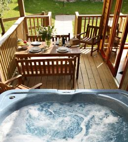 Hot Tub at Rosehill Lodges