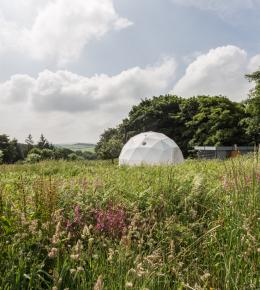 Glamping Geodome in Cornwall for Half Term holiday
